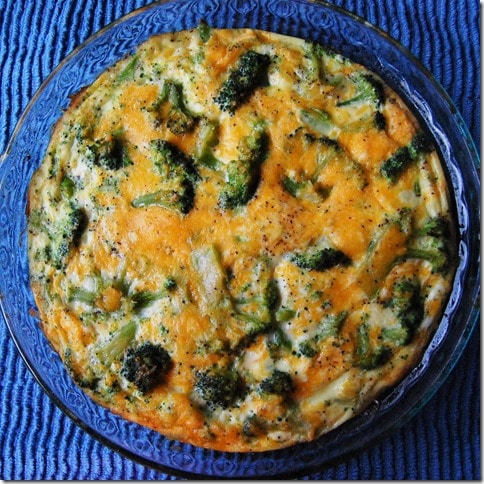 Broccoli and Cheese Frittata