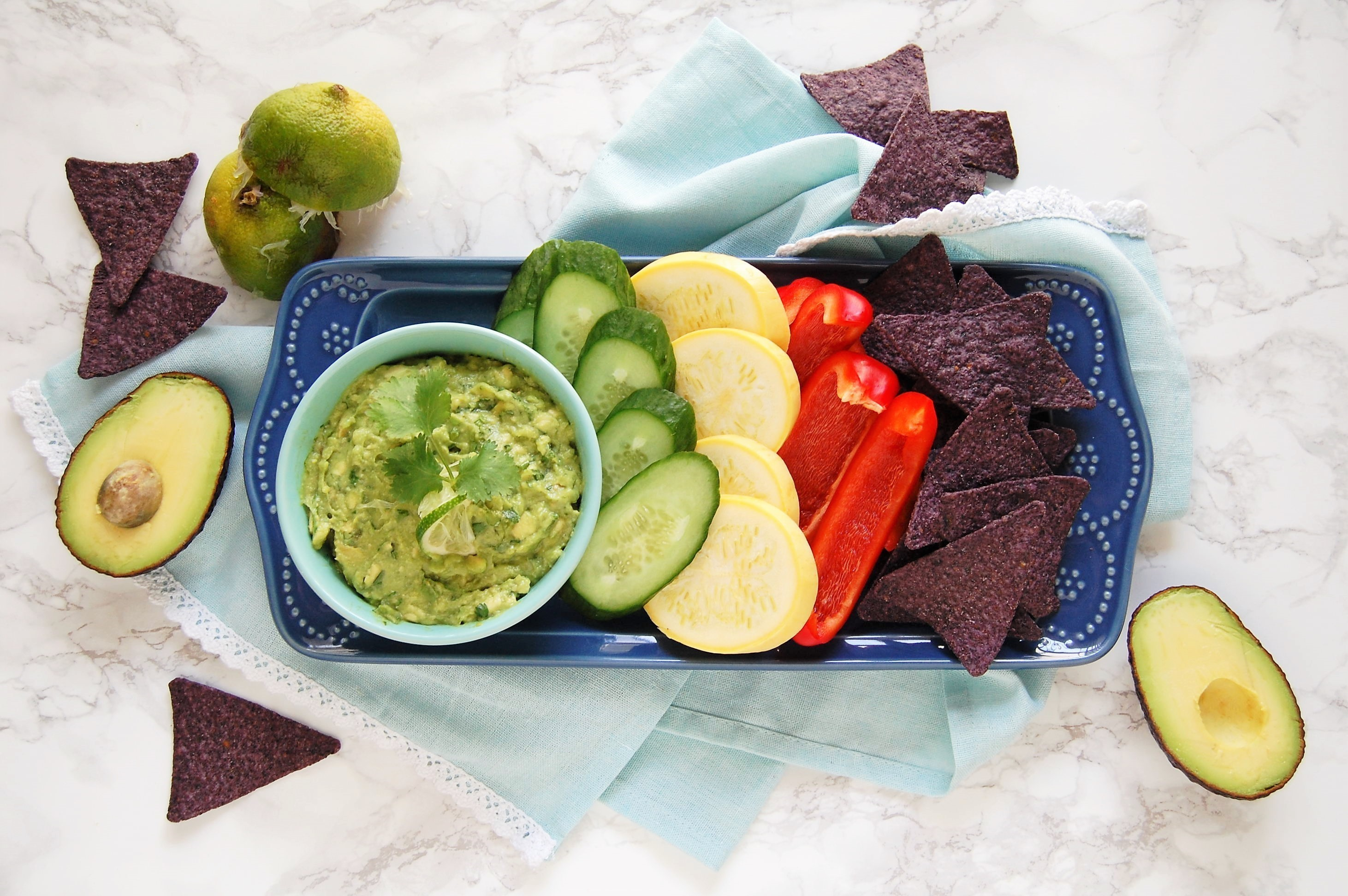This is a super easy guacamole recipe with just three ingredients (plus salt). So easy, kid-friendly, and perfect for Cinco de Mayo and all of your summer barbecues!