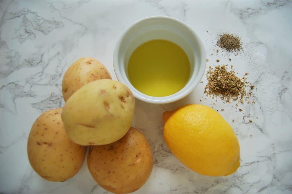 Greek-Inspired Lemon Skillet Potatoes Ingredients