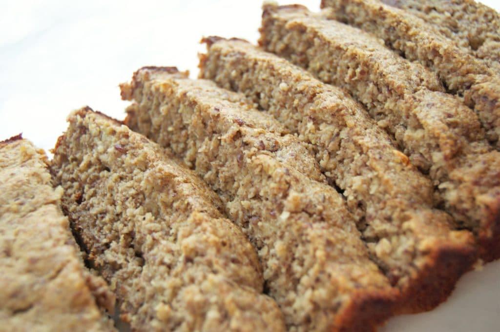 Sliced Gluten Free Banana Bread