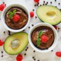 Chocolate Raspberry Avocado Pudding