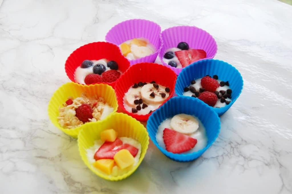 Frozen Fruit Yogurt Cups
