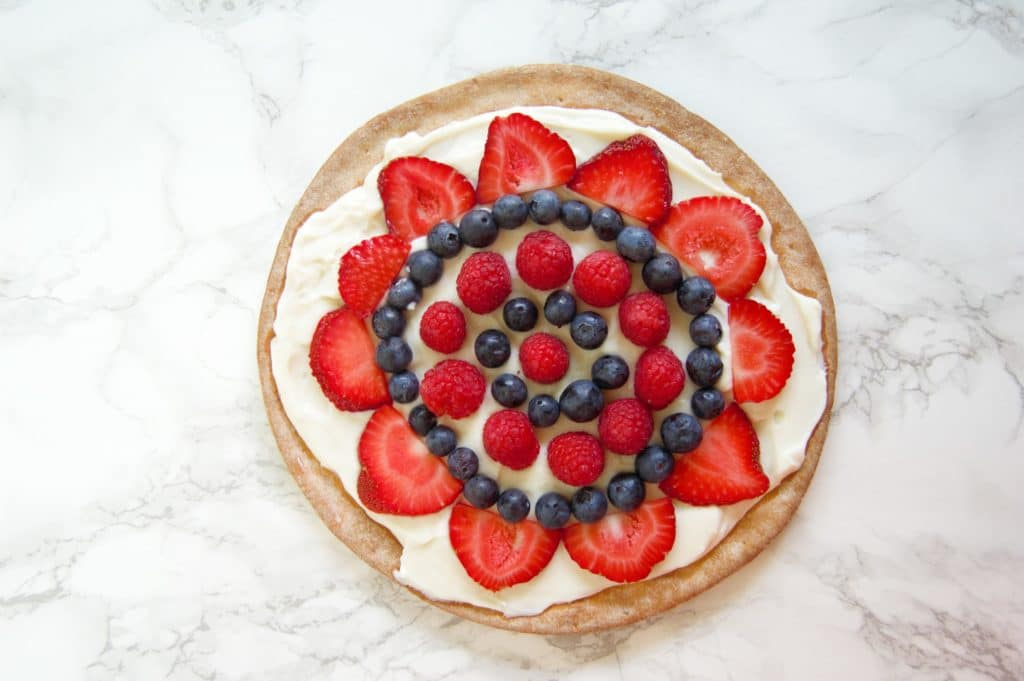 Fruit Whipped Ricotta Pizza