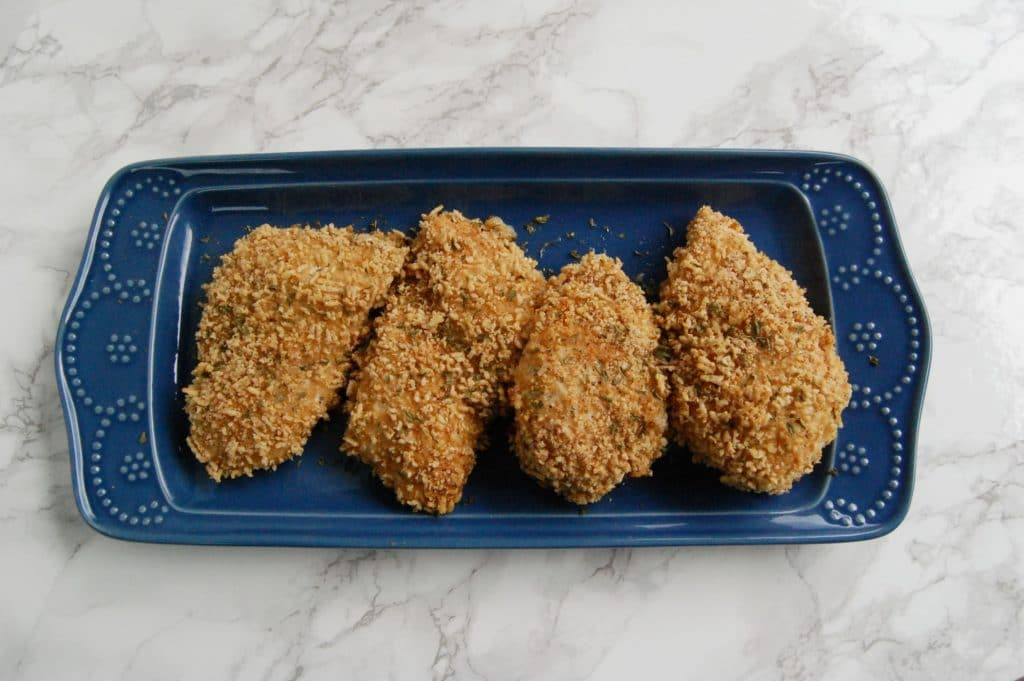 Oven Baked Cereal Chicken Breasts