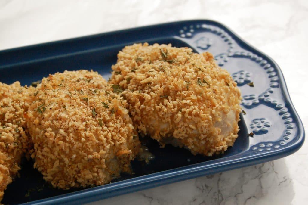 Oven Baked Crispy Cereal Chicken