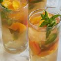 Peachy Mint Iced Green Tea