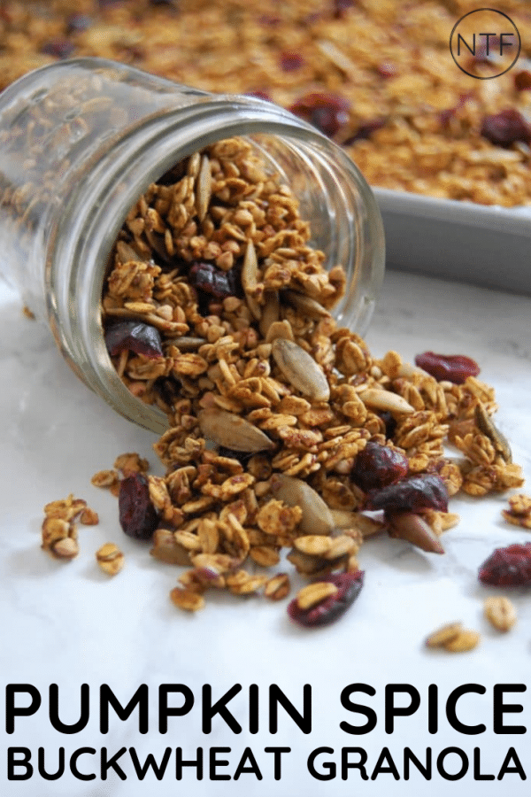 This gluten-free pumpkin spice buckwheat granola recipe is simple, delicious and full of fall flavor! It also features my favorite whole grain for some added gluten-free crunch...buckwheat!