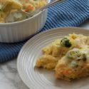 Spaghetti Squash Broccoli Chicken Alfredo Bake