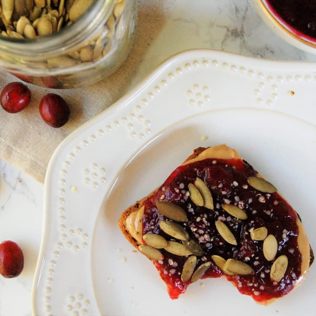 This apple cranberry sauce has no refined sugar and is low-maintenance to make, making it perfect for holiday gatherings!