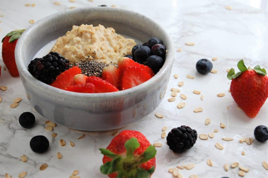 This Baked Vanilla Oatmeal Custard is creamy, sweet, delicious, but packed with fiber and protein for a well-rounded breakfast the whole family will love!
