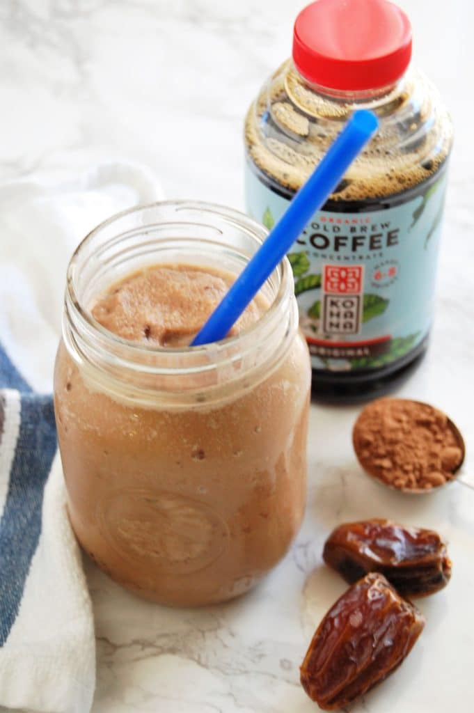 Cold Brew | Coffee | Recipe | Healthy | Mocha | Frappe | No Sugar Added | Naturally Sweetened | Nutritious | Vegan Mocha Frappe