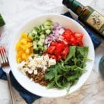 Lentils | Recipes | Lunch | Dinner | Easy | Healthy | Nutritious | Power Bowl | Bowl Meals | Greek Food | Mediterranean Diet | Dietitian | Healthy | Greek Lentil Power Bowl | Lentil Power Bowl