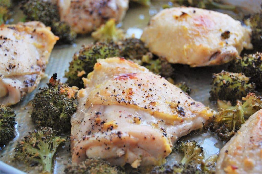 Easy Weeknight Sheet Pan Dinner of Orange Ginger Chicken and Broccoli | Gluten Free | Dairy Free | Healthy Recipe