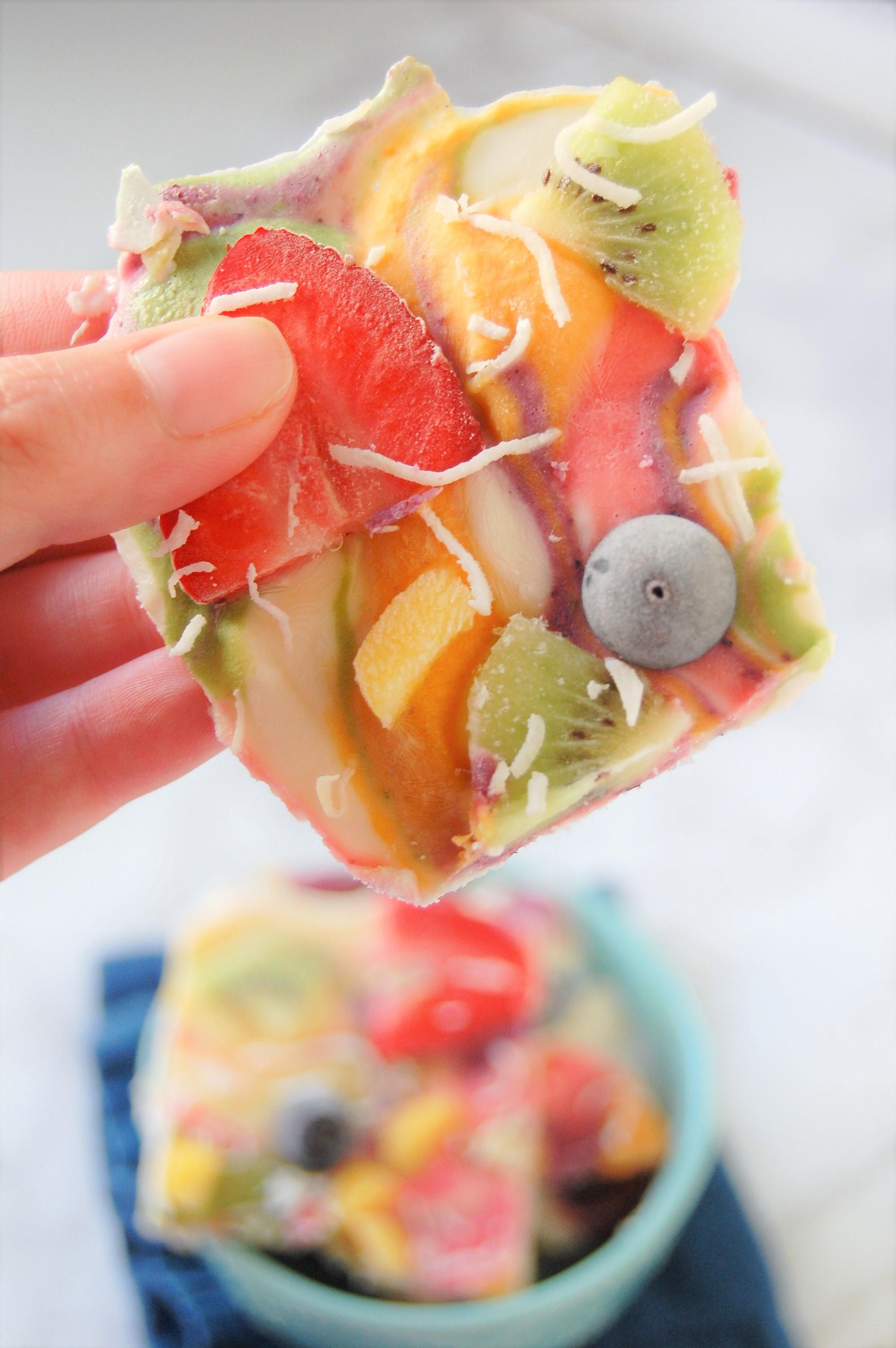 Rainbow Frozen Yogurt Bark | Healthy Recipe | Recipes | Rainbow Food | Frozen Yogurt Bark | Nutrition | Dietitian | Fruits | Vegetables | Fun Food | Cooking with Kids | Healthy Snack | Healthy Treat