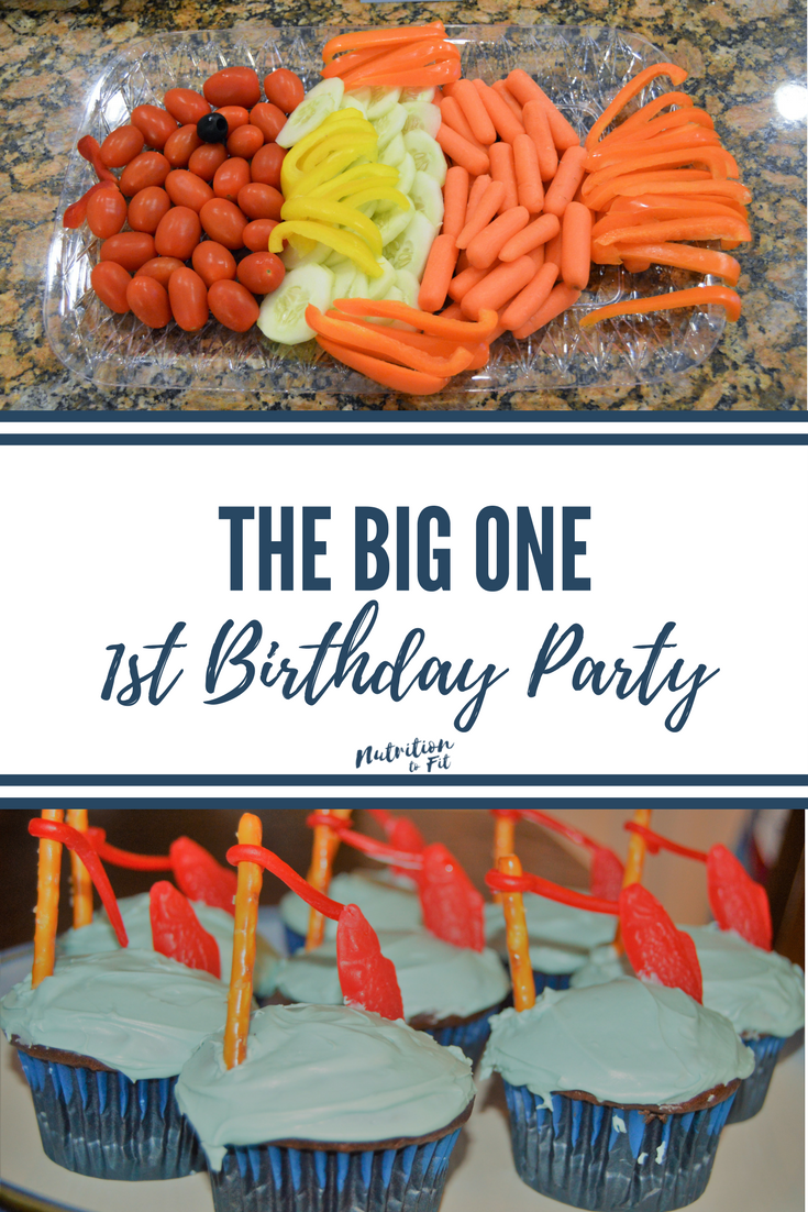 "This cute first birthday party fish theme made an excellent celebration for my nephew! See our ""the big one"" themed food that we kept fun and easy!"