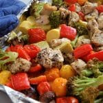 This Sheet Pan Dinner of Chicken and Veggies is the perfect weeknight dinner. Start to finish it takes 30 minutes, it's super easy, versatile, delicious, and full of nutrition. Make this family-friendly weeknight meal today by getting the recipe at @nutritiontofit.