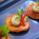 Gluten Free Hummus Poppers with Whipped Avocado Hummus