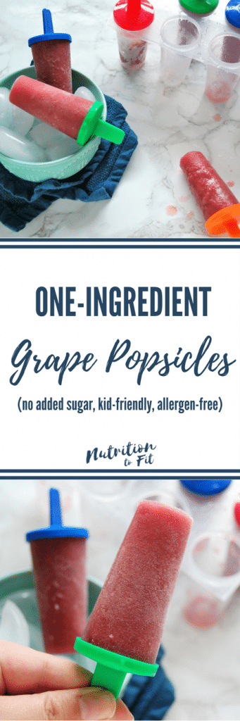 That's right! One-Ingredient Grape Popsicles! The perfect kid-friendly summer treat that is fun, healthy, delicious, and nutritious! Made by a Registered Dietitian for the whole family to enjoy! @nutritiontofit