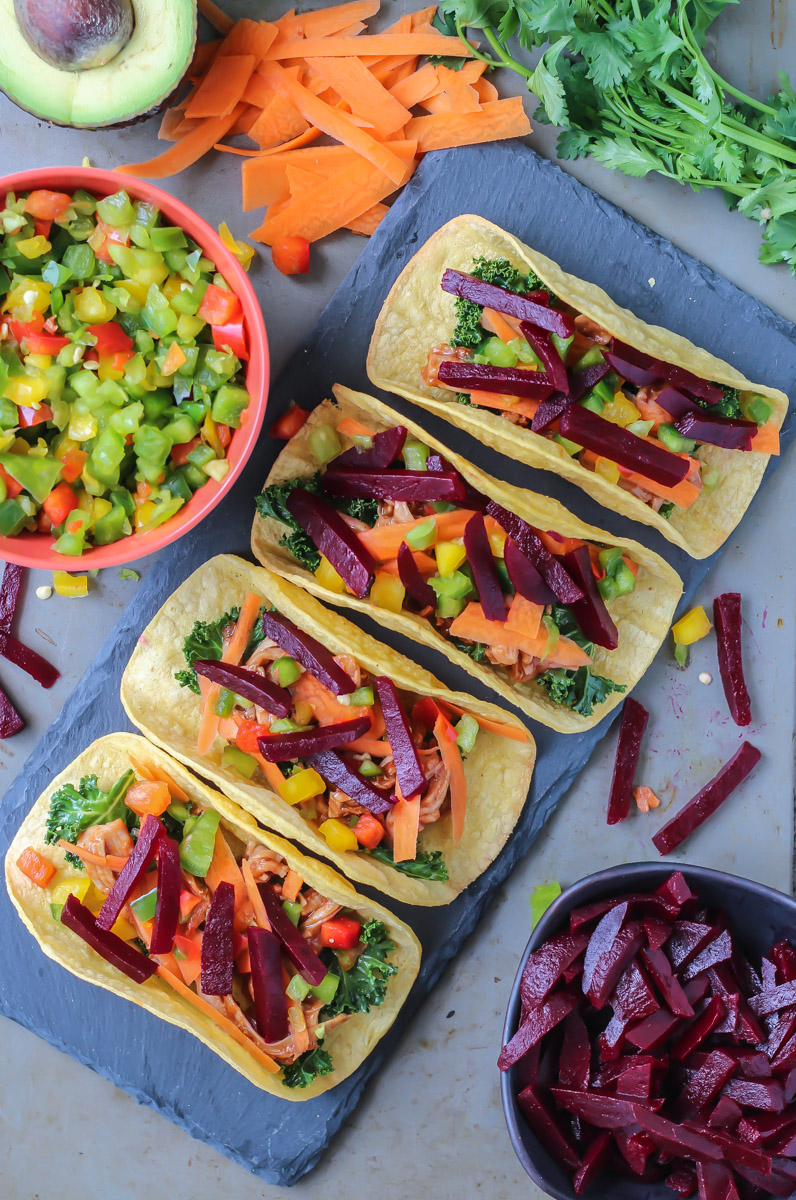 tacos with beets
