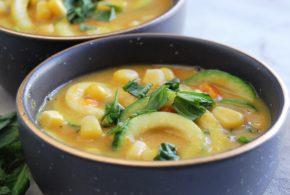 Zucchini Noodle Summer Corn Chowder