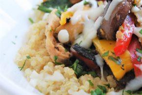 Chicken Philly Quinoa Bowl