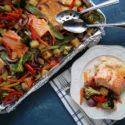 Sheet Pan Pineapple Salmon Stir Fry