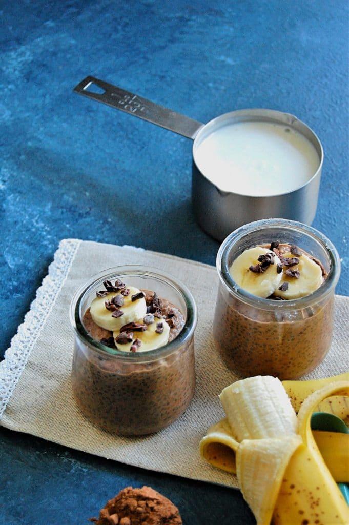 Chocolate Banana Kefir Chia Pudding