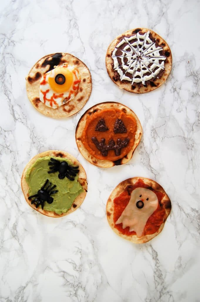 Healthy Halloween Snacks: Spooky Tostadas