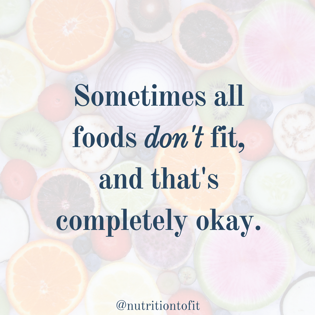 With food sensitivities and allergies, sometimes all foods don't fit, and that's completely okay.