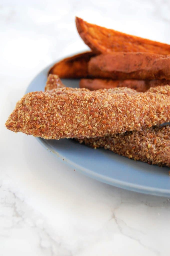 This easy two-ingredient Flaxseed Chicken Tenders recipe is free of the top 8 food allergens, family-friendly, and is great for meal prep! Bonus tips for how to make different flavor variations!