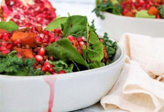 Pomegranate Lentil Butternut Salad