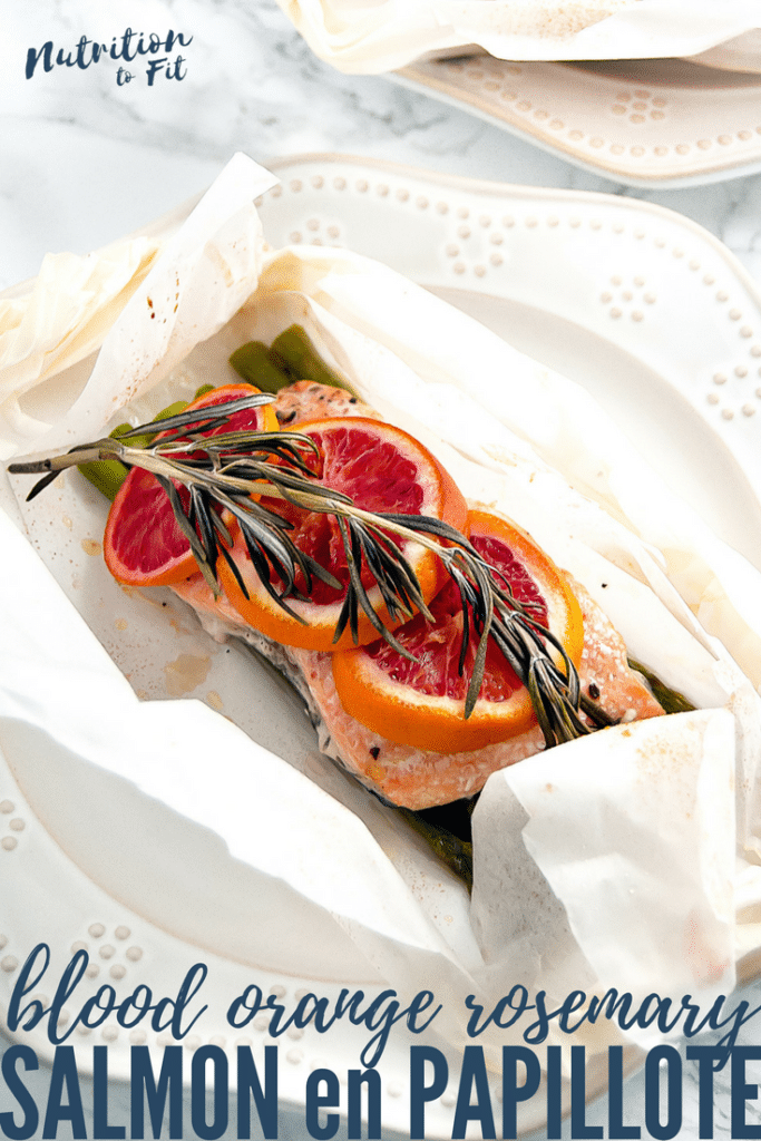Blood Orange Rosemary Salmon en Papillote is a simple, yet sophisticated salmon dinner for two, perfect for a romantic date night in or for Valentine's Day. Gluten-free, dairy-free, nut-free, soy-free.