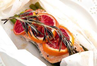 Blood Orange Rosemary Salmon en Papillote