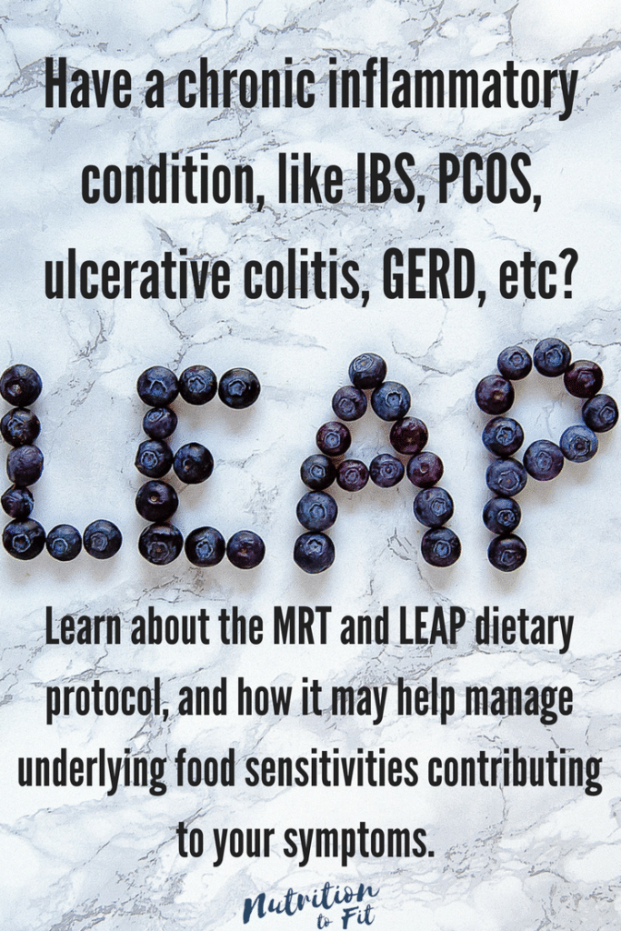 What is MRT and LEAP? Lindsey Janeiro, a Registered Dietitian and Certified LEAP Therapist, explains what MRT/ LEAP is and how it helps manage food sensitivities associated with chronic inflammatory conditions.