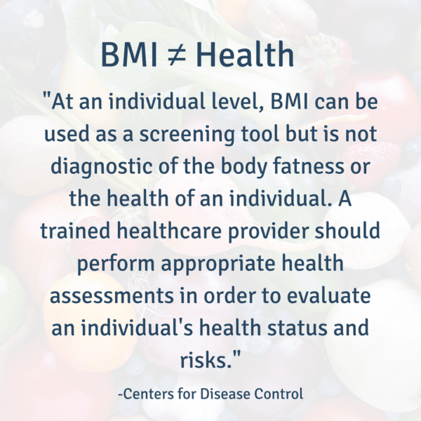 BMI ≠ Health | Nutrition to Fit