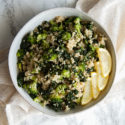 5-Minute Broccoli Kale Quinoa Salad