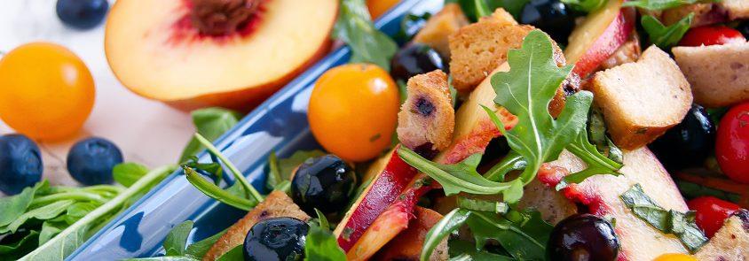 Blueberry Panzanella Salad