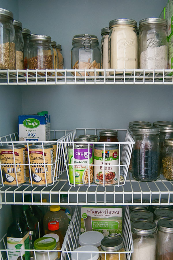 Creating designated baskets, bins, and sections in your pantry helps give everything a home and makes it less stressful to find healthy options. Spring Clean Your Kitchen.