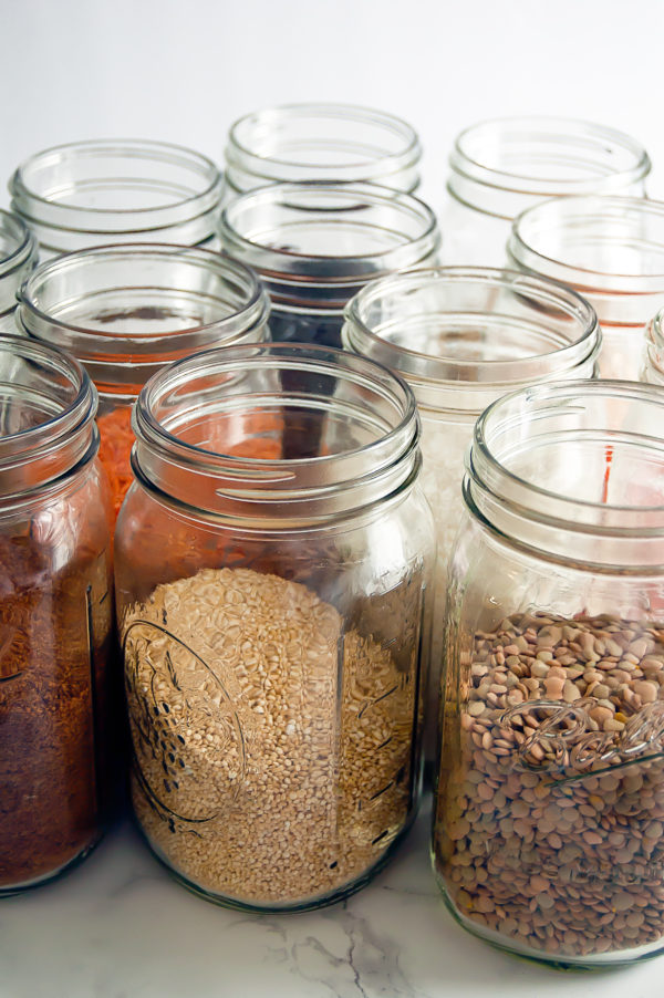 Emptying out your pantry, cabinets and everything else is the best way to see what you have and clean out the shelves when you're trying to spring clean your kitchen.