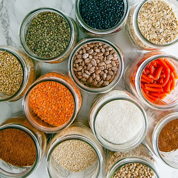 It's easier to align your eating to your healthy goals when you spring clean your kitchen by stocking it with healthy pantry staples.