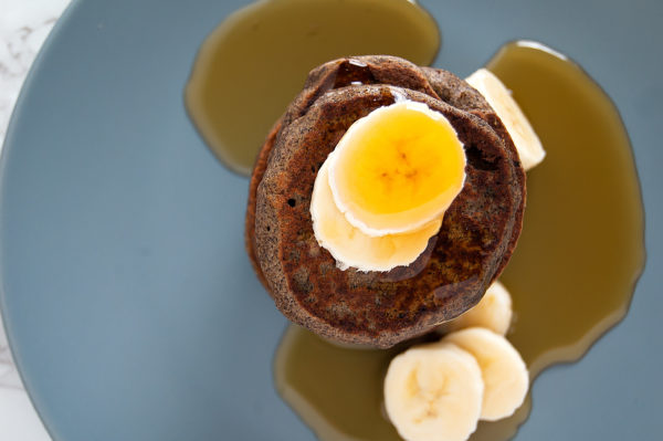 This easy Banana Buckwheat Pancakes recipe combines all ingredients in a blender resulting in a simple, gluten-free, vegan breakfast.