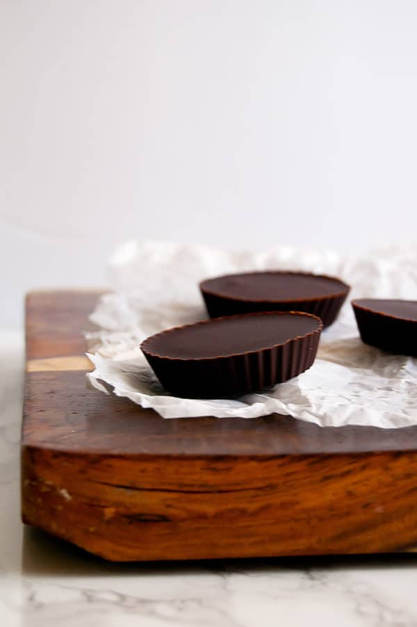 Double Chocolate Fudge Cups are a simple, real food dessert that can easily be made gluten-free, soy-free, dairy-free, nut-free, and plenty delicious. | Nutrition to Fit