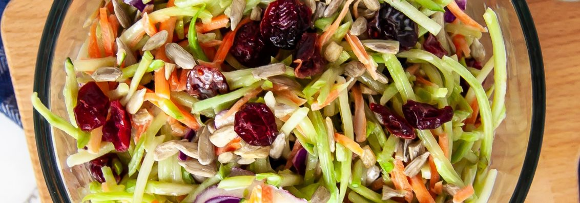 Cranberry Crunch Broccoli Slaw
