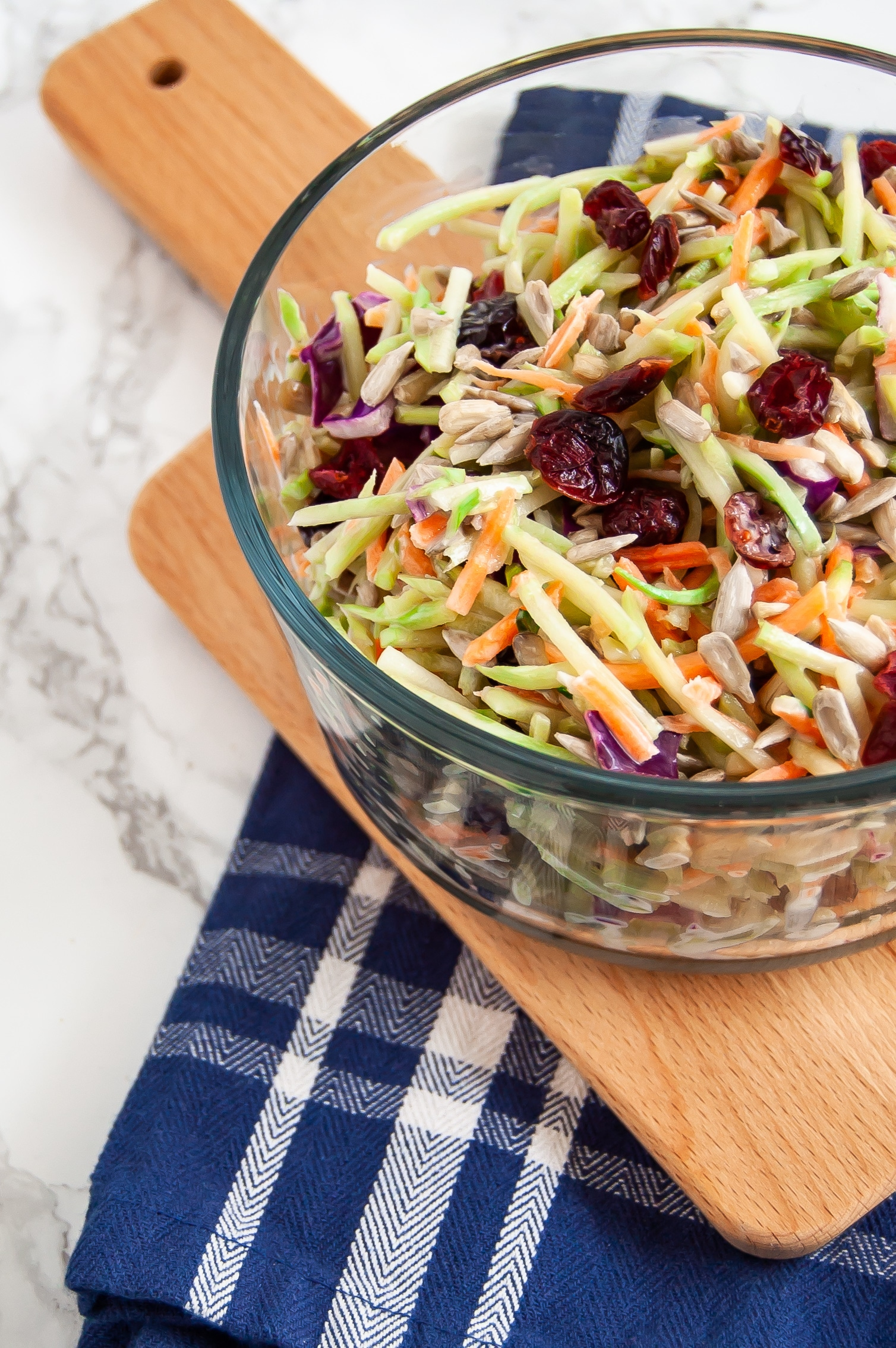 Cranberry crunch broccoli slaw is an easy, flavorful, allergy-friendly side dish recipe for summer barbecues.