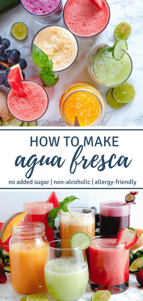 Learn how to make agua fresca, a simple, refreshing, non-alcoholic blended drink of fruit, lime, and water. They're great for Cinco de Mayo and warm summertime fun!