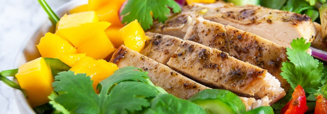 Mango Chicken Salad with Cilantro Lime Dressing