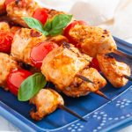 Tomato basil chicken kebabs make an easy, healthy chicken kebab recipe with a simple, flavorful tomato basil marinade. These tomato basil chicken kebabs are perfect for fresh summer grilling!