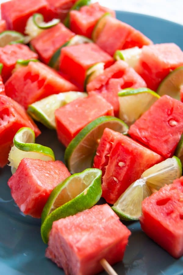 Grilled fruit is the perfect summer dessert and these grilled watermelon skewers with yogurt lime sauce are no exception. Simple, fast, and full of flavor, grilled watermelon skewers are a great way to make a healthy grilled dessert the whole family will enjoy.