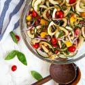 Zucchini Noodle Antipasto Salad