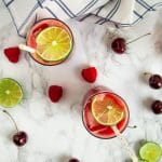 This sparkling berry cherry limeade is a refreshing, low-sugar drink that's easy to make at home with a few simple, real food ingredients.